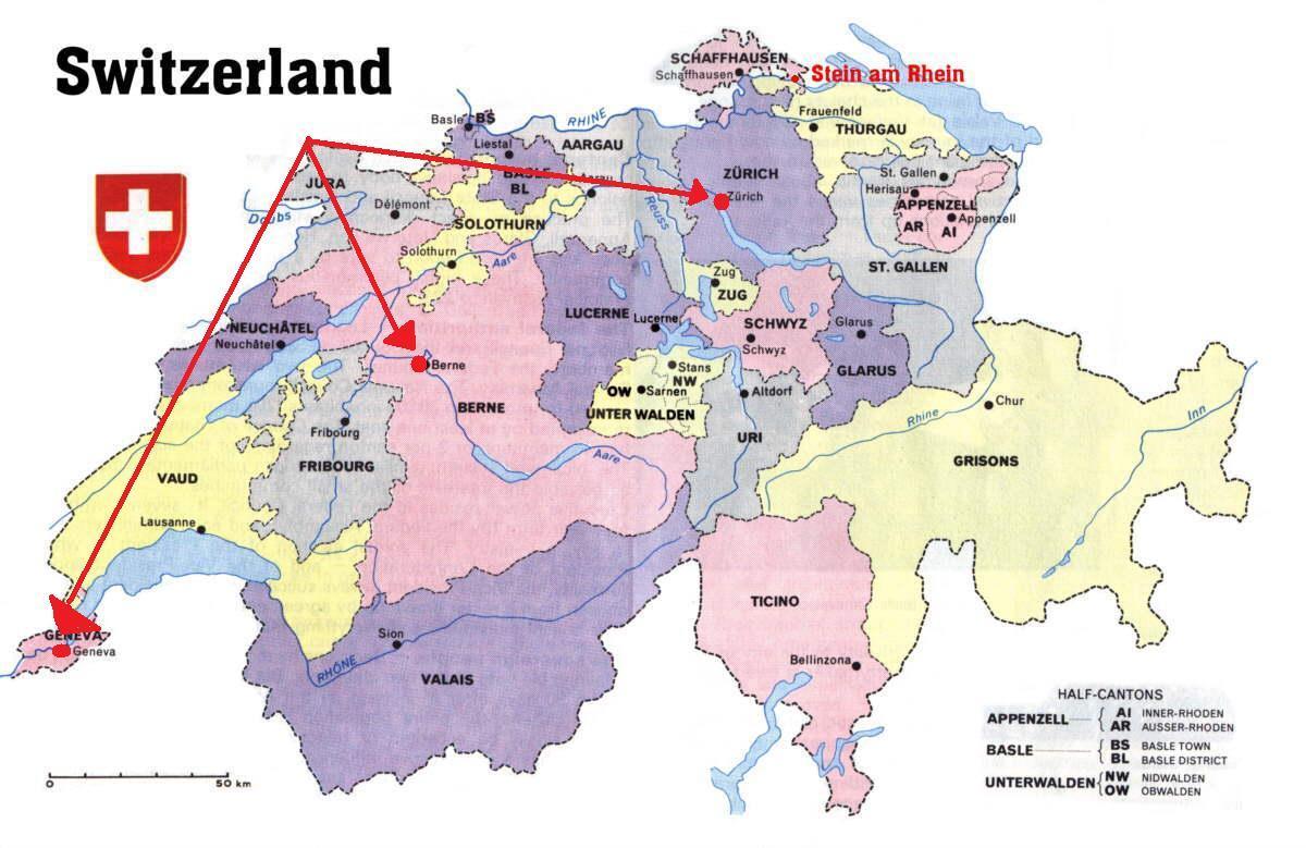 Mapa Politico De Suiza.Ginebra Suiza Mapa Ginebra Suiza Mapa De Europa Europa