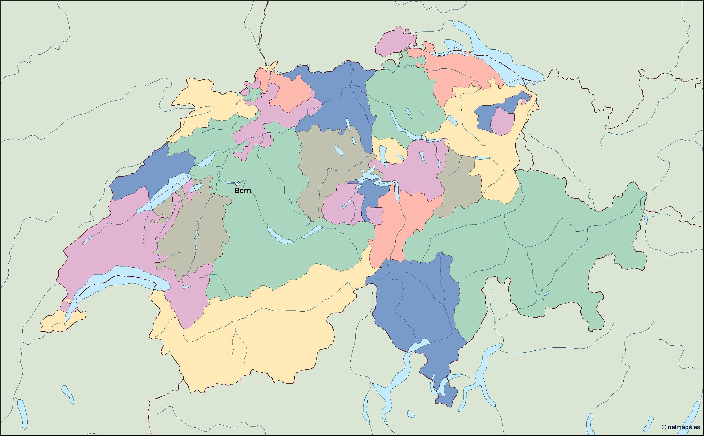 Mapa Politico De Suiza.Mapa Politico De Suiza Mapa De Mapa Politico De Suiza